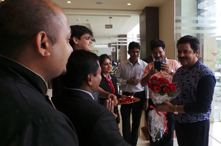 Udit Narayan Welcomed by Panache Team